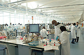 The superlab in the Science Centre, London Metropolitan University, where 280 students can each work independently.