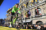 Sep Vanmarcke (NED) Cannondale-Drapac Pro Team on stage at sign on before the 101st edition of the Tour of Flanders 2017 running 261km from Antwerp to Oudenaarde, Flanders, Belgium. 26th March 2017.<br /> Picture: Eoin Clarke | Cyclefile<br /> <br /> <br /> All photos usage must carry mandatory copyright credit (&copy; Cyclefile | Eoin Clarke)