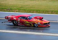 Apr. 29, 2011; Baytown, TX, USA: NHRA pro mod driver Rickie Smith during qualifying for the Spring Nationals at Royal Purple Raceway. Mandatory Credit: Mark J. Rebilas-