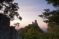 View of the first Tower, Monte Titano, San Marino.