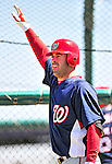 1 March 2010: Washington Nationals' catcher Devin Ivany awaits his turn in the batting cage during Spring Training at the Carl Barger Baseball Complex in Viera, Florida. Mandatory Credit: Ed Wolfstein Photo