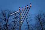 Menorah lighting in Boston Common, Boston, Massachusetts, USA
