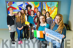 Mercy Mounthawk had a cross-cultural exchange with students from Argentina as part of Language week on Tuesday. Pictured Front l-r Mary O'Connell, Filipa Silva, Back l-r Aoife Fitzgerald, Spanish Teacher, Mounthawk, Trinidad Labarta, Pilar Courreges, Pedro Santana, Agustina Turzi, Franco Iadanza, Gino Minnucci, KarenFitzgerald, Niamh McMahon and Carla Marletta, Argentine Group Leader
