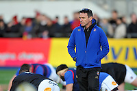 Bath Rugby Head Coach Mike Ford looks on during the pre-match warm-up. Aviva Premiership match, between Saracens and Bath Rugby on January 30, 2016 at Allianz Park in London, England. Photo by: Patrick Khachfe / Onside Images