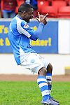 St Johnstone v Motherwell.....19.05.13      SPL.Nigel Hasselbaink celebrates his goal.Picture by Graeme Hart..Copyright Perthshire Picture Agency.Tel: 01738 623350  Mobile: 07990 594431