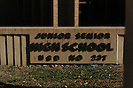 11/7/07 Smith Center, KS.The Smith Center Junior/Senior High School..(Chris Machian/Prairie Pixel Group)