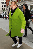 APR 15 Fern Britton arriving at BBC Radio House