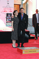 HOLLYWOOD, CA - SEPTEMBER 08: Winona Ryder, Tim Burton attend Director Tim Burton honored with a Hand and Footprint Ceremony at TCL Chinese Theatre IMAX on September 8, 2016 in Hollywood, California. (Credit: Parisa/MediaPunch LTD.)