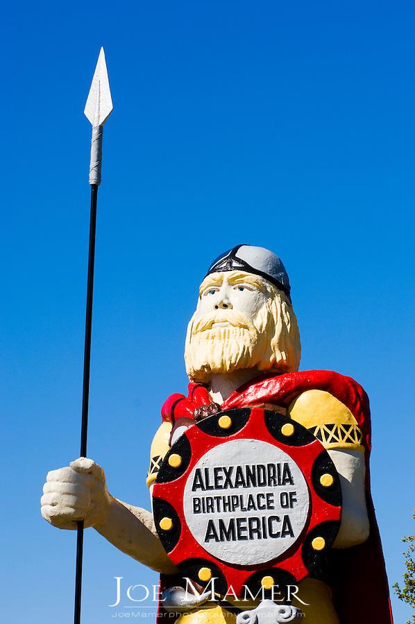 28 foot tall viking statue of Big Ole in Alexandria, Minnesota