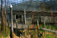 &quot;CABIN ON THE SUISLAW&quot;<br /> <br /> You can't rent this cabin. It's just an illusion. But, it isn't bad just to look at. Reflections of a cabin on the Suislaw River in Oregon. ORIGINAL 24 X 36 GALLERY WRAPPED CANVAS SIGNED BY THE ARTIST $2,500. CONTACT FOR AVAILABILITY.