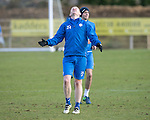 St Johnstone Training&hellip;03.02.17<br />Brian Easton eacts to a bad pass during training this morning at McDiarmid Park ahead of Snday&rsquo;s game against Celtic.<br />Picture by Graeme Hart.<br />Copyright Perthshire Picture Agency<br />Tel: 01738 623350  Mobile: 07990 594431