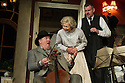 London, UK. 08.07.2013. THE LADYKILLERS, by Graham Linehan, and directed by Sean Foley, opens at the Vaudeville Theatre. Picture shows: Chris McCalphy (One Round), Angela Thorne (Mrs WIlberforce) and John Gordon Sinclair (Professor Marcus). Photograph © Jane Hobson.