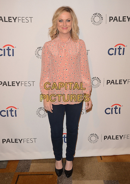 18 March 2014 - Hollywood, California - Amy Poehler. The The Paley Center for Media Presents: An Evening With &quot;Parks and Recreation&quot; for Paleyfest 2014 at The Dolby Theater in Hollywood. <br /> CAP/ADM/BT<br /> &copy;Birdie Thompson/AdMedia/Capital Pictures