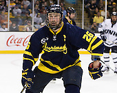 Adam Ross (Merrimack - 26) - The Merrimack College Warriors defeated the University of New Hampshire Wildcats 4-1 (EN) in their Hockey East Semi-Final on Friday, March 18, 2011, at TD Garden in Boston, Massachusetts.