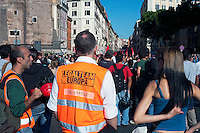 Roma  15 Ottobre 2011.Manifestazione contro la crisi e l'austerità.Avvocati del Legalteam Europa.