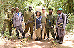 Gorilla Trekking, Bwindi, Uganda.  Our team included a lead guide from Uganda Wildlife Authority, 2 scouts who left early in the morning to trace the gorilla's path from the prior day, 2 porters, and an armed guard with an AK-47.    Trekking groups are limited to 8 visitors.  Permits are $500.   Each group's time with gorillas is limited to one hour.