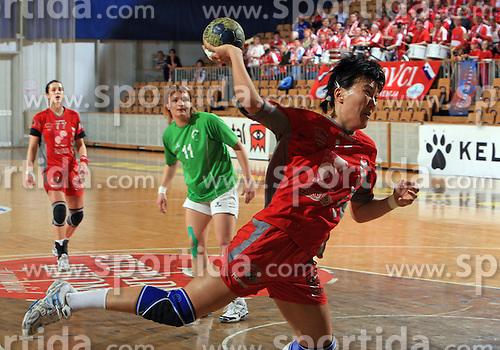 Ljudmila Bodnieva of Krim  at Women Slovenian Handball Cup, finals match between RK Olimpija and RK Krim Mercator, on April 5, 2009, in Arena Tivoli, Ljubljana, Slovenia.  (Photo by Vid Ponikvar / Sportida)