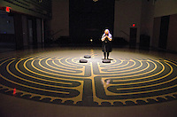 Cindy McQuade walks  the labyrinth at the First United Methodist Church of Santa Monica on Good Friday, March 29, 2013.