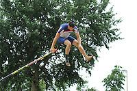 FIERLJEPPEN: IT HEIDENSKIP: 26-07-2015, wint de NFM bij de heren topklasse Bart Helmholt met een sprong 20.59 meter, ©foto Martin de Jong