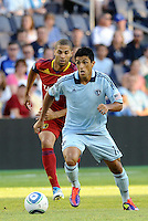 Sporting KC midfielder Jeferson in action... Sporting Kansas City defeated Real Salt Lake 2-0 at LIVESTRONG Sporting Park, Kansas City, Kansas.