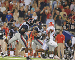 Ole Miss running back Brandon Bolden (34) breaks off a long run at Vaught-Hemingway Stadium in Oxford, Miss. on Saturday, September 25, 2010. Ole Miss won 55-38. Bolden rushed for 228 yards on the night.