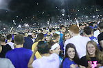 The University of Kentucky Christian Student Felowship (CSF) sets the world record for the fourth year in a row for the World's Largest Water Balloon Fight at midnight, August 24th, 2012 in the Johnson Center Field. Photo by Scott Hannigan | Staff