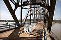 Illinois-Route 66<br /> Le pont Chain of rocks