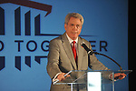 Ole Miss chancellor Dan Jones speaks as the university announces a $150 million capital improvement campaign to build a new basketball arena and expand Vaught-Hemingway Stadium in Oxford, Miss. on Tuesday, August 9, 2011.