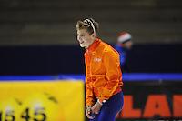 SCHAATSEN: HEERENVEEN: 29-11-2014, IJsstadion Thialf, KNSB trainingswedstrijd, Tjerk de Boer, ©foto Martin de Jong