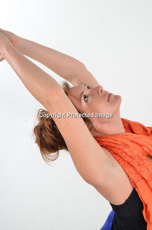 Stock photos of woman doing yoga
