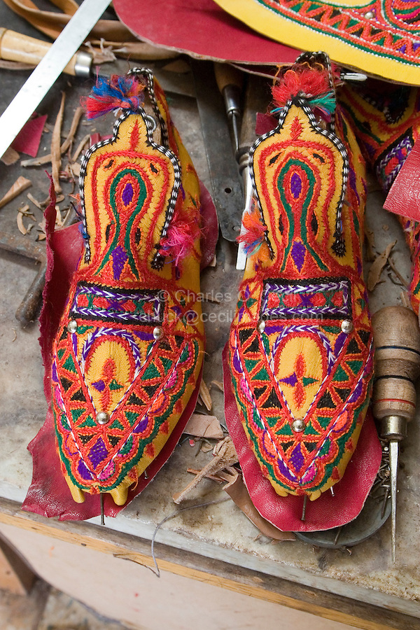 Ghadames, Libya - Shoes, Ghadames Style, for little girl.