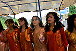 Women perform a traditional dance at a Kurdish wedding reception outside Irbil, Iraqi Kurdistan...Stability and security prevail in postwar Iraqi Kurdistan as Iraqi tourists, many of them from Baghdad, flock to the northern cities and their amusement parks and national parks to escape violence and sectarian strife in the central and southern regions of the country.