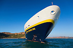 The National Geographic Orion anchored at Prince Frederick Harbour, The Kimberley, Western Australia