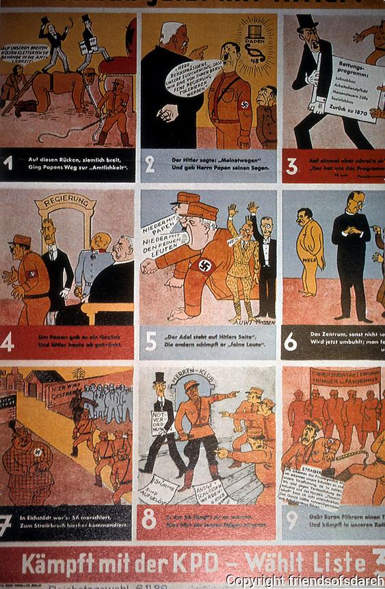 Technology: Weimar Culture--KPD Poster, 1933?