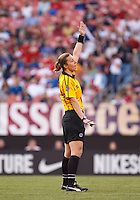 22 MAY 2010:  Referee Margaret Domka during the International Friendly soccer match between Germany WNT vs USA WNT at Cleveland Browns Stadium in Cleveland, Ohio on May 22, 2010.