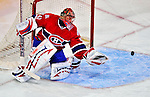 20 December 2008: Montreal Canadiens' goaltender Jaroslav Halak from the Slovak Republic makes a save in the second period against the Buffalo Sabres at the Bell Centre in Montreal, Quebec, Canada. With both teams coming off wins, the Canadiens extended their winning streak by defeating the Sabres 4-3 in overtime. ***** Editorial Sales Only ***** Mandatory Photo Credit: Ed Wolfstein Photo