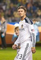 CARSON, CA - November 20, 2011: LA Galaxy midfielder David Beckham (23) before the MLS Cup match between LA Galaxy and Houston Dynamo at the Home Depot Center in Carson, California. Final score LA Galaxy 1, Houston Dynamo 0.