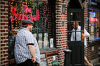 A man enters to the Stonewall Inn bar in New York. 25.06.2015. The Stonewall Inn, the birthplaces of the modern gay rights movement, the Greenwich Village bar for the LGBT community was made a New York City landmark on Tuesday,  Eduardo MunozAlvarez/VIEWpress.