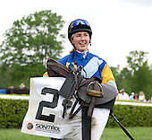 Jockey Danielle Hodsdon, aboard Mrs. Calvin Houghland's Nationbuilder, won her 100 career steeplechase racein 2010, in the $50,000 Queen's Cup in Mineral Springs, N.C.