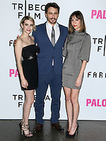 """LOS ANGELES, CA, USA - MAY 05: Emma Roberts, James Franco, Gia Coppola at the Los Angeles Premiere Of Tribeca Film's """"Palo Alto"""" held at the Directors Guild of America on May 5, 2014 in Los Angeles, California, United States. (Photo by Celebrity Monitor)"""