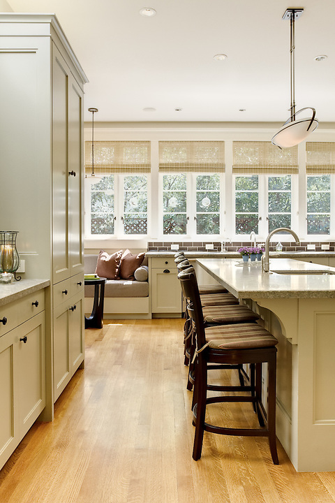 Kitchen With Center Island Seating And Www