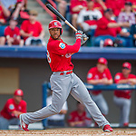13 March 2016: St. Louis Cardinals outfielder Thomas Pham in action during a pre-season Spring Training game against the Washington Nationals at Space Coast Stadium in Viera, Florida. The teams played to a 4-4 draw in Grapefruit League play. Mandatory Credit: Ed Wolfstein Photo *** RAW (NEF) Image File Available ***