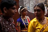 Children attend the Holi Hai festival organized by Indian community in New York City March 31, 2013. Photo by Eduardo Munoz Alvarez / VIEWpress.