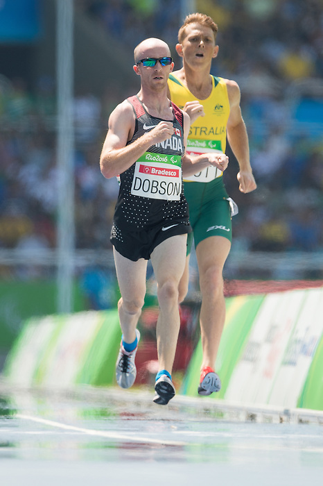 RIO DE JANEIRO - 11/9/2016:  Shane Dobson competes in the Men's 1500m - T37 Final at the Olympic Stadium during the Rio 2016 Paralympic Games in Rio de Janeiro, Brazil. (Photo by Matthew Murnaghan/Canadian Paralympic Committee