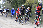 The peloton including Ian Boswell (USA) on gravel sector 3 Radi during the 2017 Strade Bianche running 175km from Siena to Siena, Tuscany, Italy 4th March 2017.<br /> Picture: Eoin Clarke | Newsfile<br /> <br /> <br /> All photos usage must carry mandatory copyright credit (&copy; Newsfile | Eoin Clarke)