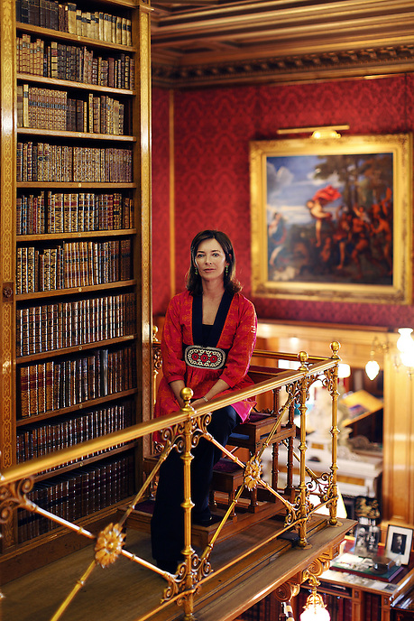 ALNWICK, NORTHUMBERLAND - Jane Percy, the Duchess of Northumberland, at her home in Alnwick Castle. The Duchess was appointed Lord Lieutenant of Northumberland in May 2009.
