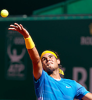 Rafael NADAL (ESP) against Thiemo DE BAKKER (NED) in the second round. Rafael Nadal beat Thiemo De Bakker 6-1 6-0..International Tennis - 2010 ATP World Tour - Masters 1000 - Monte-Carlo Rolex Masters - Monte-Carlo Country Club - Alpes-Maritimes - France..© AMN Images, Barry House, 20-22 Worple Road, London, SW19 4DH.Tel -  + 44 20 8947 0100.Fax - + 44 20 8947 0117