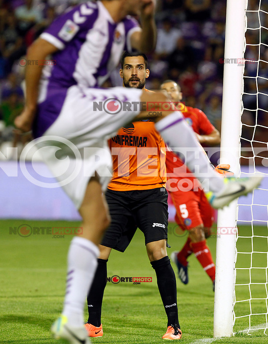 Getafe's goalkeeper Moya during La Liga match.August 31,2013. (ALTERPHOTOS/Victor Blanco)