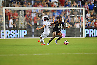 Kansas City, KS. - July 22, 2016: The U.S. Women's National team go up 4-0 over Costa Rica during a friendly match in preparation for the Olympics at Children's Mercy Park.