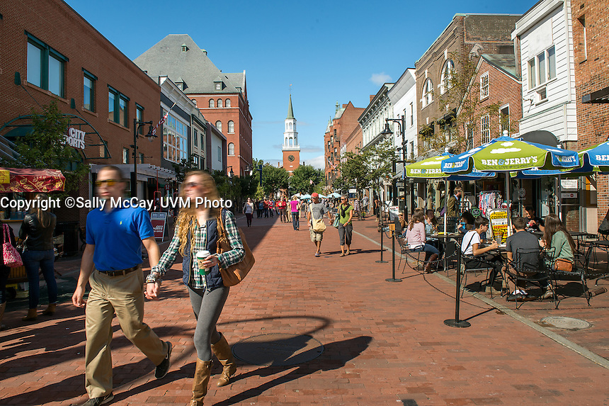 Burlington, Vermont. Church Street Marketplace